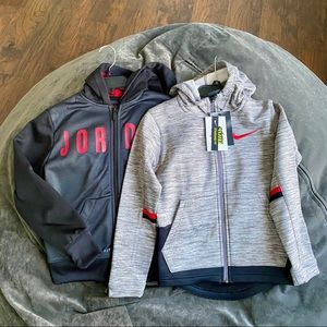 2 Boys Nike & Jordan Full-Zip Hooded Jackets